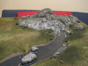 Hill of the Spring with Realistic Water