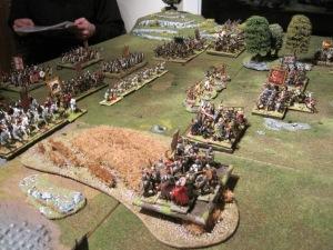 The Saxons Advance