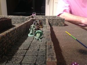 Skeleton Guards defend the corridor