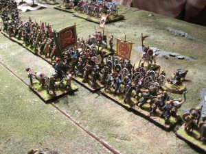 The centre, Magnus and Theodosius attempt to hold back the barbarian tide.
