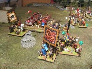 Aelle successfully breaks through the Roman central battle line