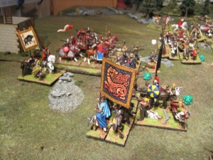Aelle successfully breaks through the Roman central battle line