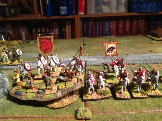 Artorius beneath the bear banner with his cavalry.