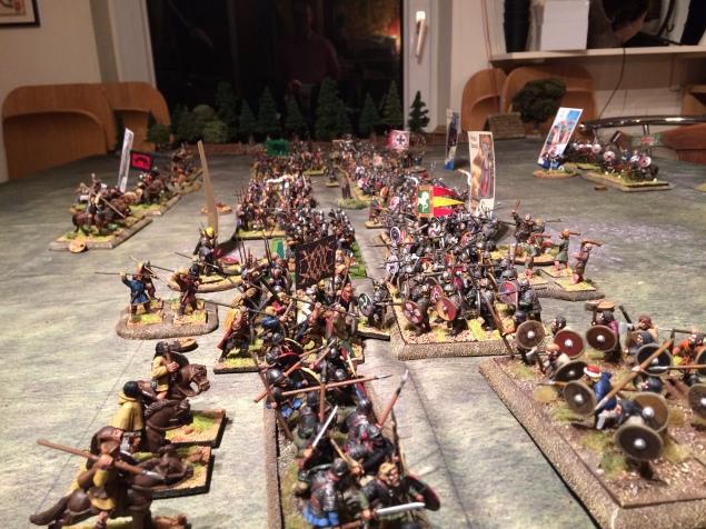 The Norse-Irish and Saxon shieldwalls in close combat
