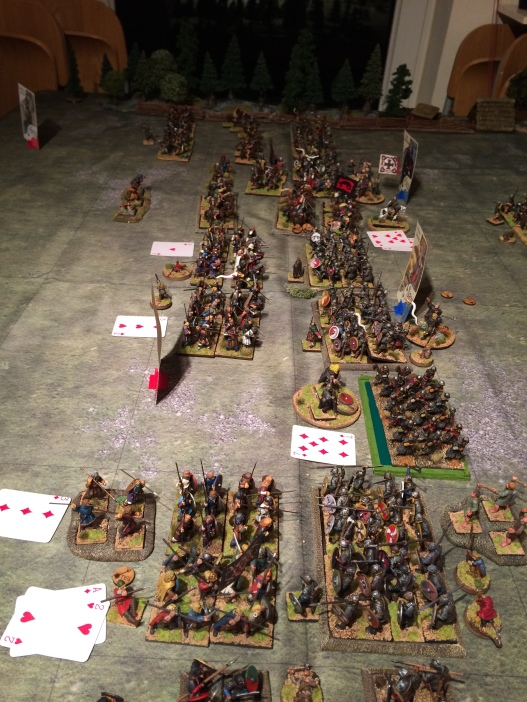 Finally a gap in the lines as the Norse Irish Axemen led by Olaf smash through the Prince's Mercians