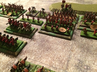The Roman veterans.