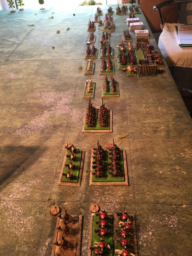 The Roman Army march out of camp and deploy for battle. DARRYL takes the right wing with Succesianus and the Legions whilst Phil takes the left and centre with Valerian and the Auxiliaries