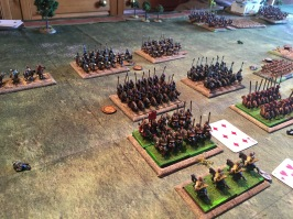 Clash of cavalry on Roman left flank led by the heroic Roman contari extra heavy cavalry general