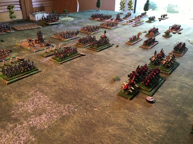 The Roman centre advances rapidly towards the Persian elephant and infantry supported by the commander in chief Valerian in reserve