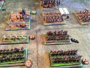 The Auxilia are disordered in their advance by punishing archery from the Persian infantry