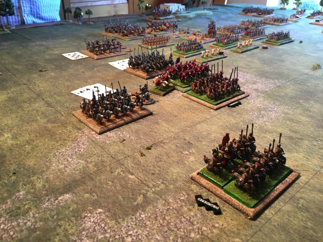 The Roman cavalry falls back in disorder. Valerian attempts to halt the Persian advance by Interposing if his own heavy cavalry