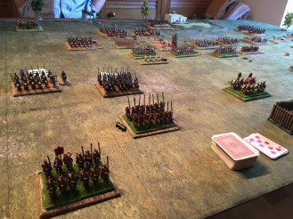 Things look bad now on the left flank but the cavalry with the general manage to rally