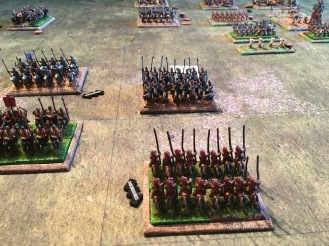 Disaster as the guard cavalry rout and Valerian is captured. At this point all seems lost for the Romans but they stubbornly detained to fight on after a brief lunch break.