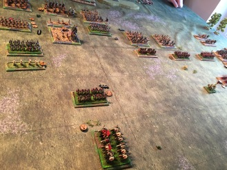 The Roman auxilia attempt to retreat and then rally but the elephants just keep advancing