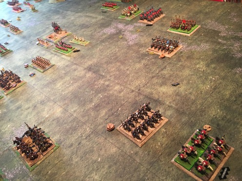 The Persian cavalry turn to face attacks from all directions now.