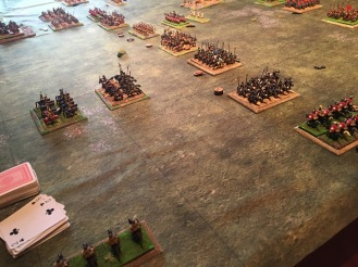 The view from the Persian left flank as the reserve closes with the lost Roman unit to halt their slow advance and protect their comrades
