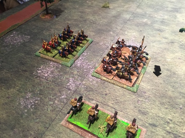 The Roman light horse attack the flank of the. Persian reserve cavalry multiple times whilst the Roman heavy cavalry attack. From the front.